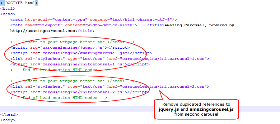 How to insert multiple jQuery Carousels to one webpage